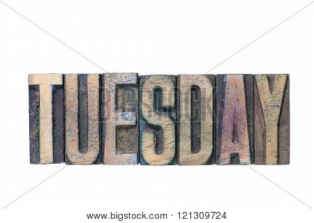 Tuesday word wooden