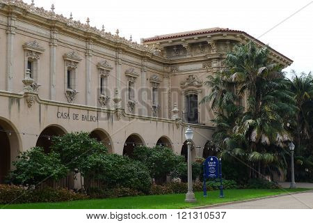 San Diego - October 28: Casa De Balboa (San Diego History Center) Building of Balboa Park on October 28, 2015 in San Diego, California