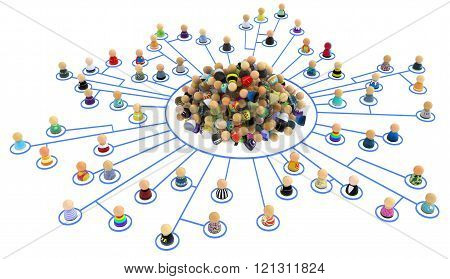Cartoon Crowd, Link Center Pile