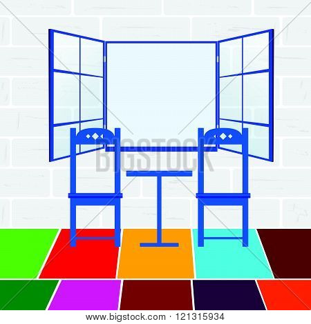 Chair Color Illustration