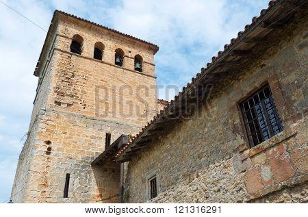 Santa Juliana Collegiate Church in Santillana del Mar, Cantabria, Spain.