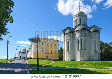 Demetrius And Assumption Cathedral, Building Of Provincial Official Place, Vladimir