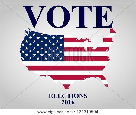 Us Elections on white background vector illustration
