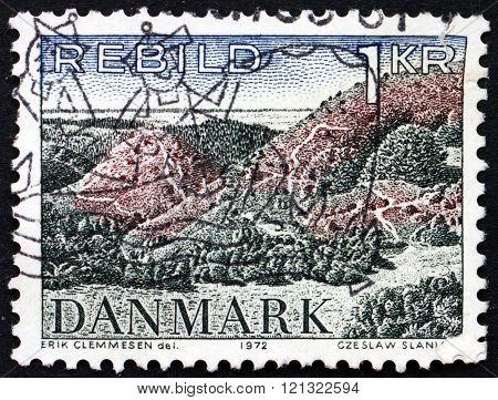 Postage Stamp Denmark 1972 Rebild Hills