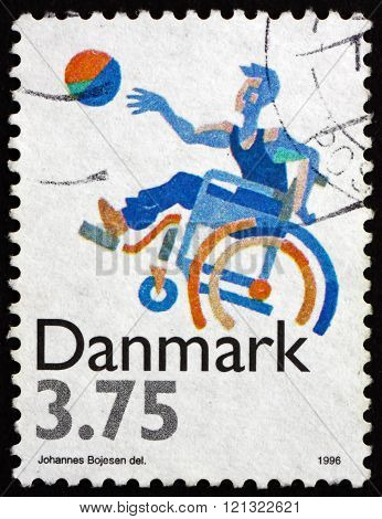 Postage Stamp Denmark 1996 Sports For Disabled