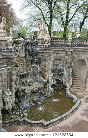 Dresden, Germany - April 27, 2010: The Fountain