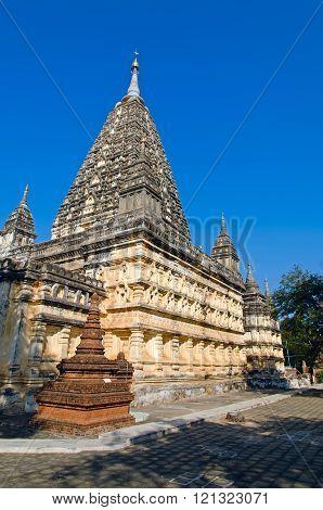 Stupas and pagodas of Bagan. Maha Bodhi temple. Myanmar.