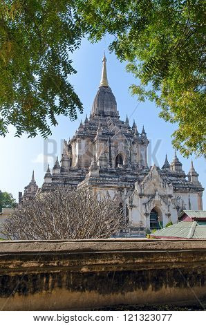 Stupas and pagodas of Bagan. Gaw Daw Palin temple.  Myanmar.