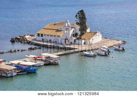 Mouse island near the coast of Corfu