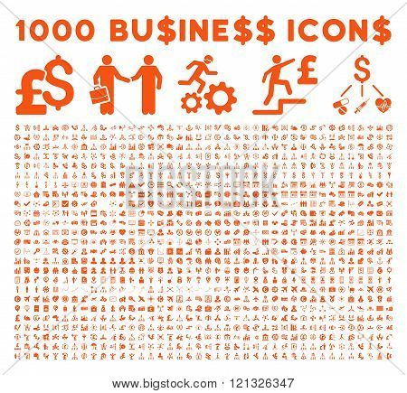 1000 Flat Vector Business Icons