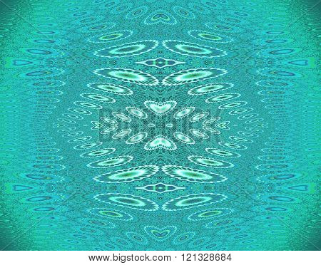 Seamless ellipses pattern turquoise