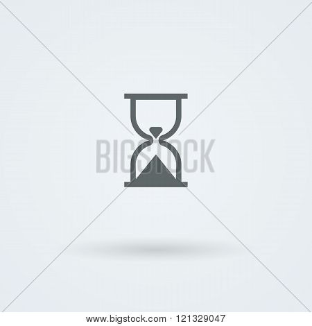 Vector hourglass icon. Time pictogram.