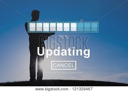 Updating Upgrade Software Program Data Technology Concept