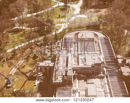 Milan Aerial View Vintage