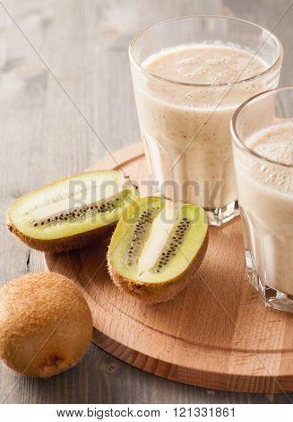 Smoothie Made Of Kiwi And Banana