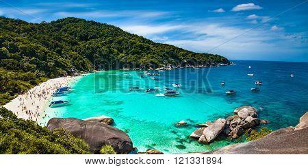 Tropical beach at Similan Island in Andaman Sea, Thailand.