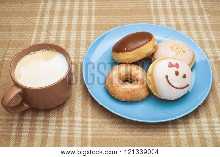 Sweet breakfast with coffee