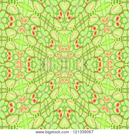 Seamless ellipses pattern green pink
