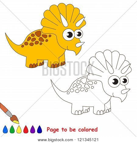 Triceratops to be colored. Coloring book for children. Visual game.
