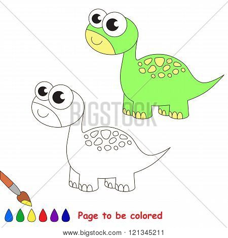 Brontosaurus to be colored. Coloring book for children. Visual game.