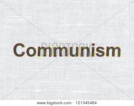Politics concept: Communism on fabric texture background