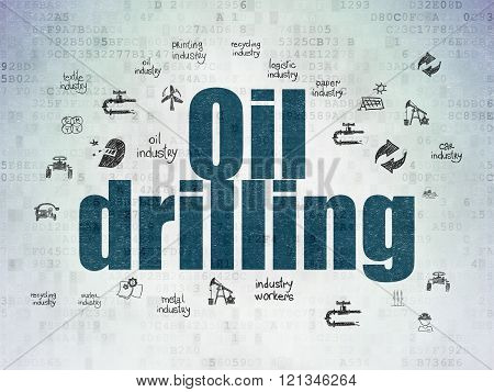 Industry concept: Oil Drilling on Digital Paper background