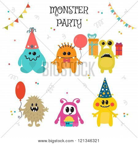 Cute Little Monsters Birthday Party