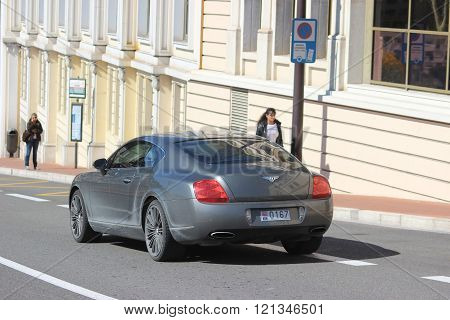 Bentley Continental Gt At Monte-carlo In Monaco