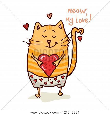cute valentine cat