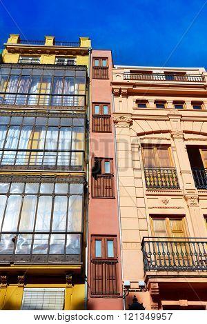 Valencia  in Spain Lope de Vega square downtown of Spain