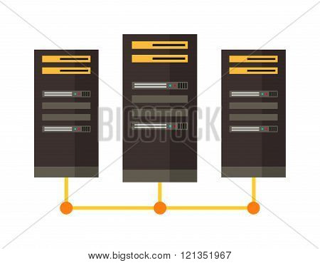 Computer server icon vector illustration