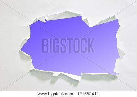 Hole paper, isolated on white background with clipping path.