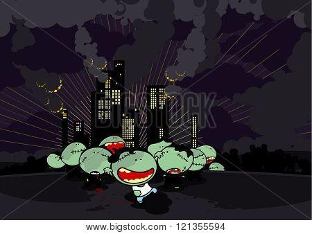 Zombie apocalypse (raster version)
