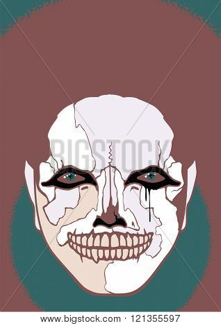 Scary clown (raster version)
