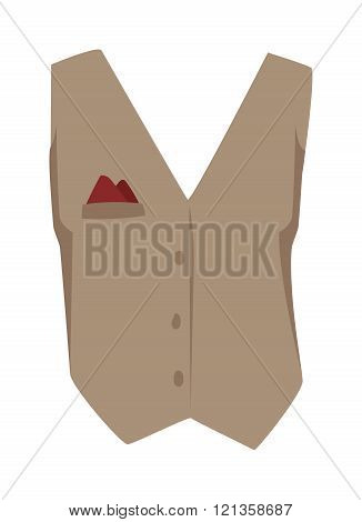 Vest waistcoat vector illustration