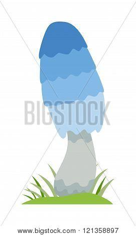 Amanita poisonous mushroom, isolated vector on white background