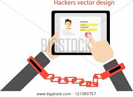 Login vector design