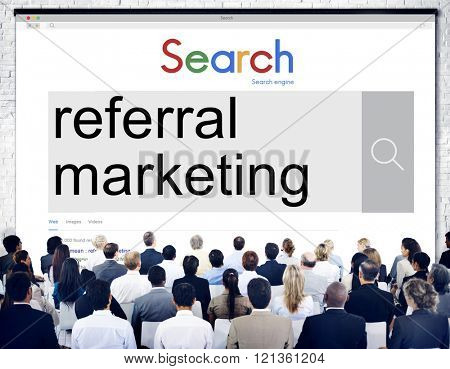 Referral Marketing Referal Advertisement Client Concept