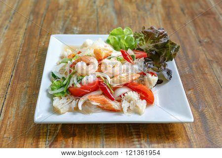Thai Vermicelli Salad on table