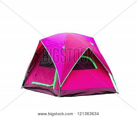 Isolated Dome Tent On White