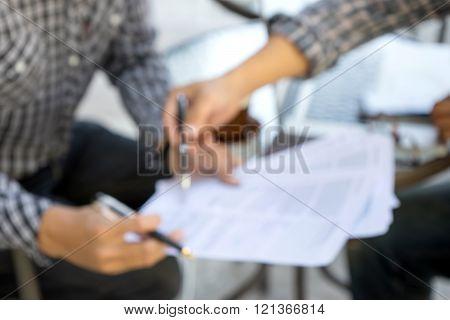 Blur Bussiness Man Hand