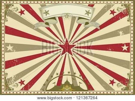 circus vintage horizontal poster. A circus vintage poster for your advertising. Perfect size for a screen.