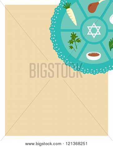 Passover seder flat icons .greeting card template