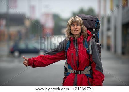 Woman - Hitchhiker