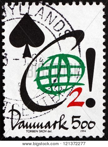 Postage Stamp Denmark 1994 Co2, Conservation