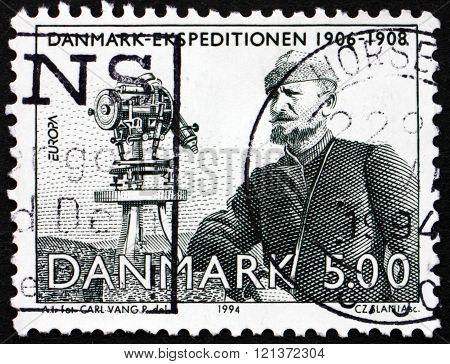 Postage Stamp Denmark 1994 Johan Peter Koch, Cartographer