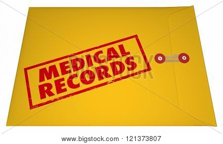 Medical Records Private Patient Documents Files Sensitive Information 3D