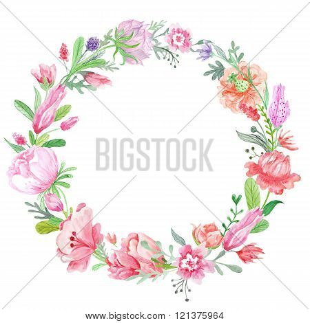 Romantic Meadow Floral Wreath