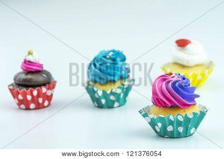 Creamer cup cake with close up view