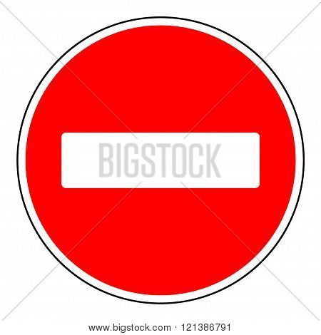 Do not enter blank sign. Warning red circle icon isolated on white background. Prohibition concept. No traffic street symbol. illustration